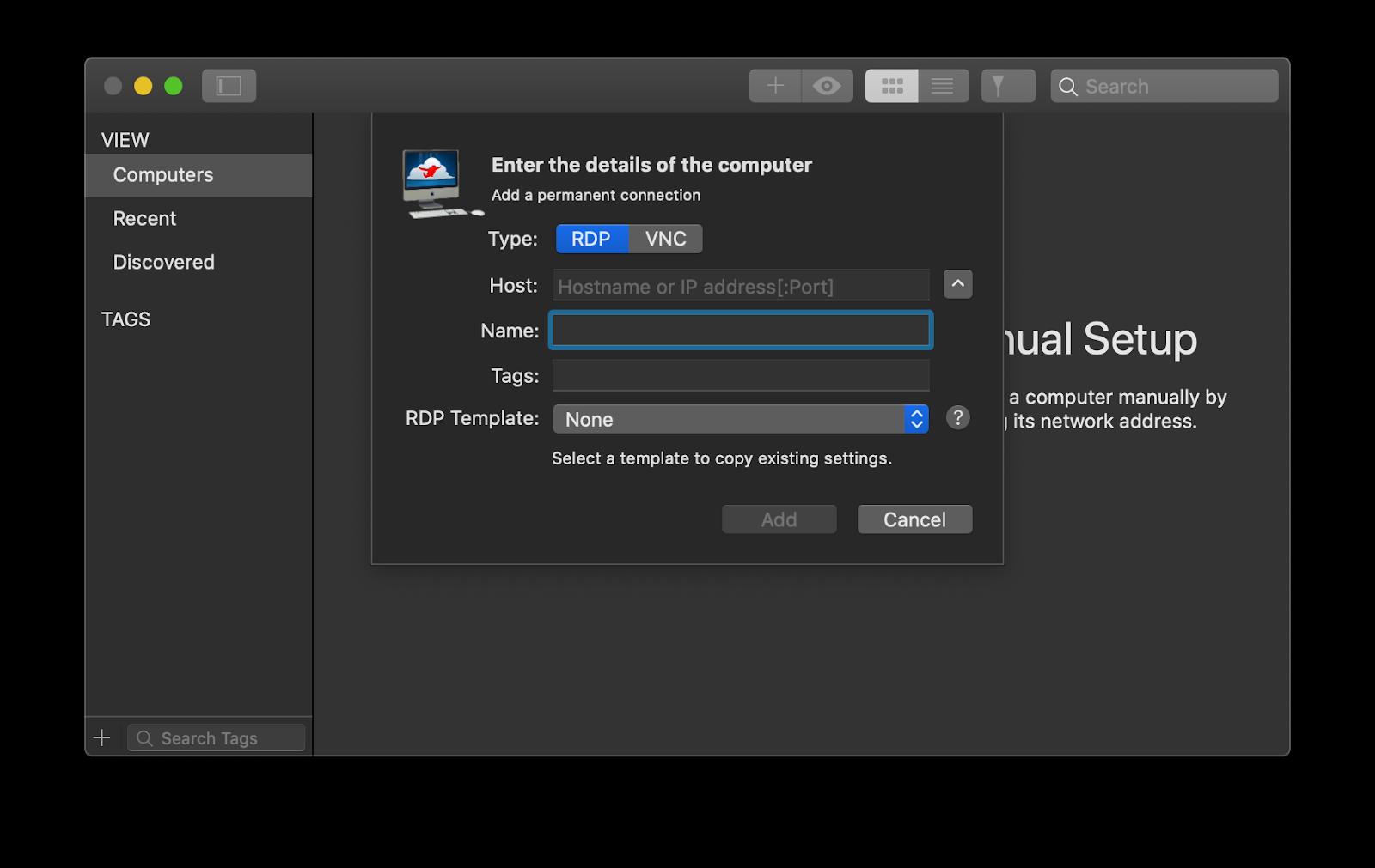 Jump Desktop remote desktop manager