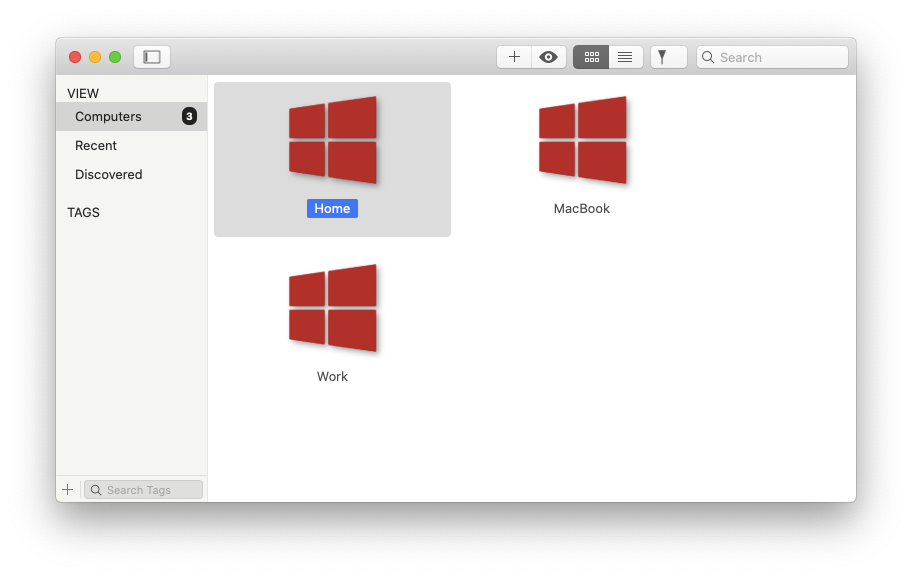 Jump Desktop screen sharing vnc app Mac