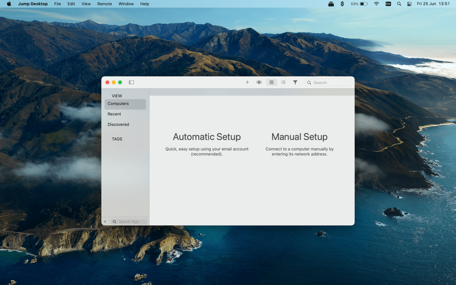 Jump screen mac