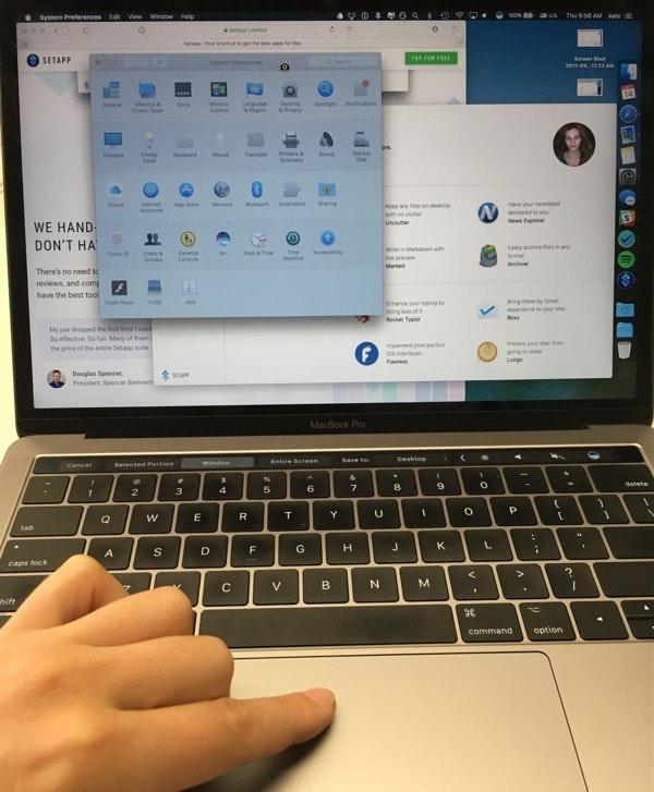 Take a screenshot with keyboard's hot keys