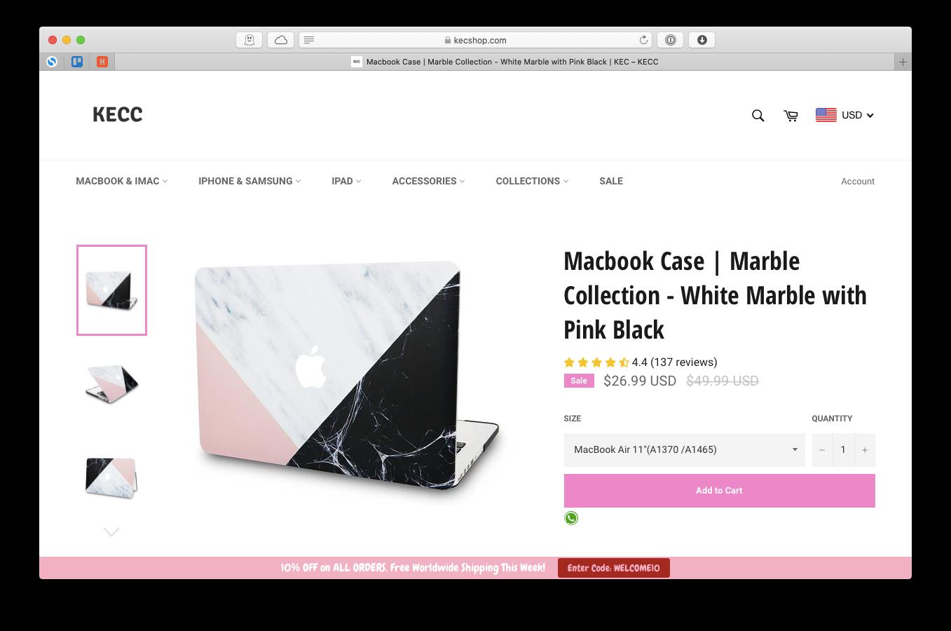 KECC marble MacBook case