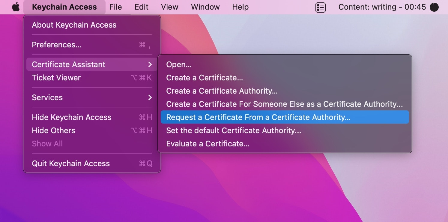 Request a Certificate From a Certificate Authority
