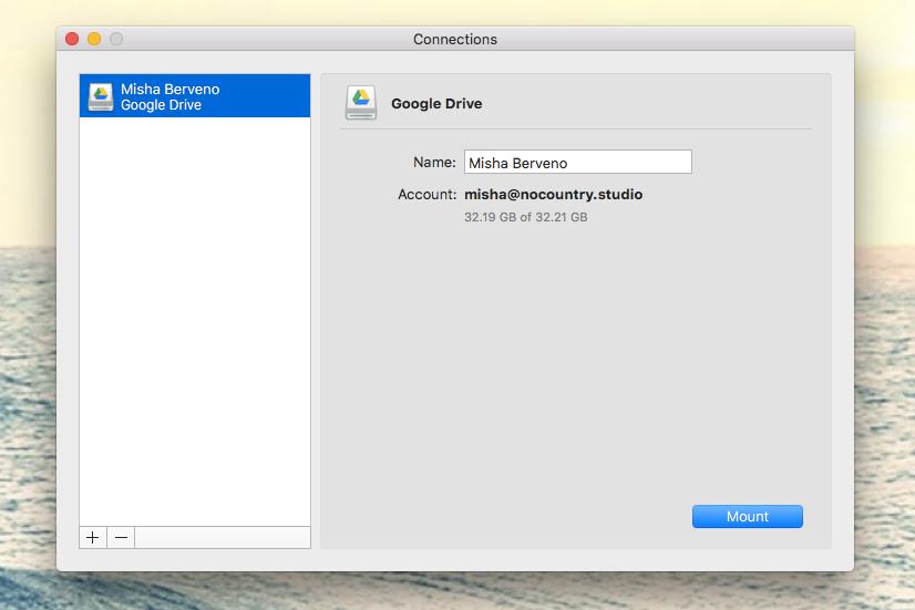 Add a cloud network drive