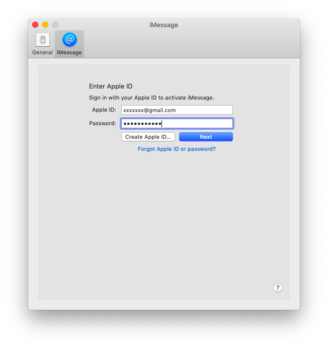 log in iMessage on Mac