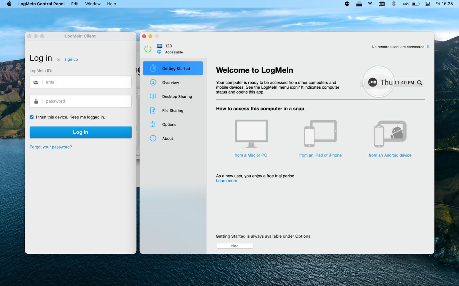 logmein-interface