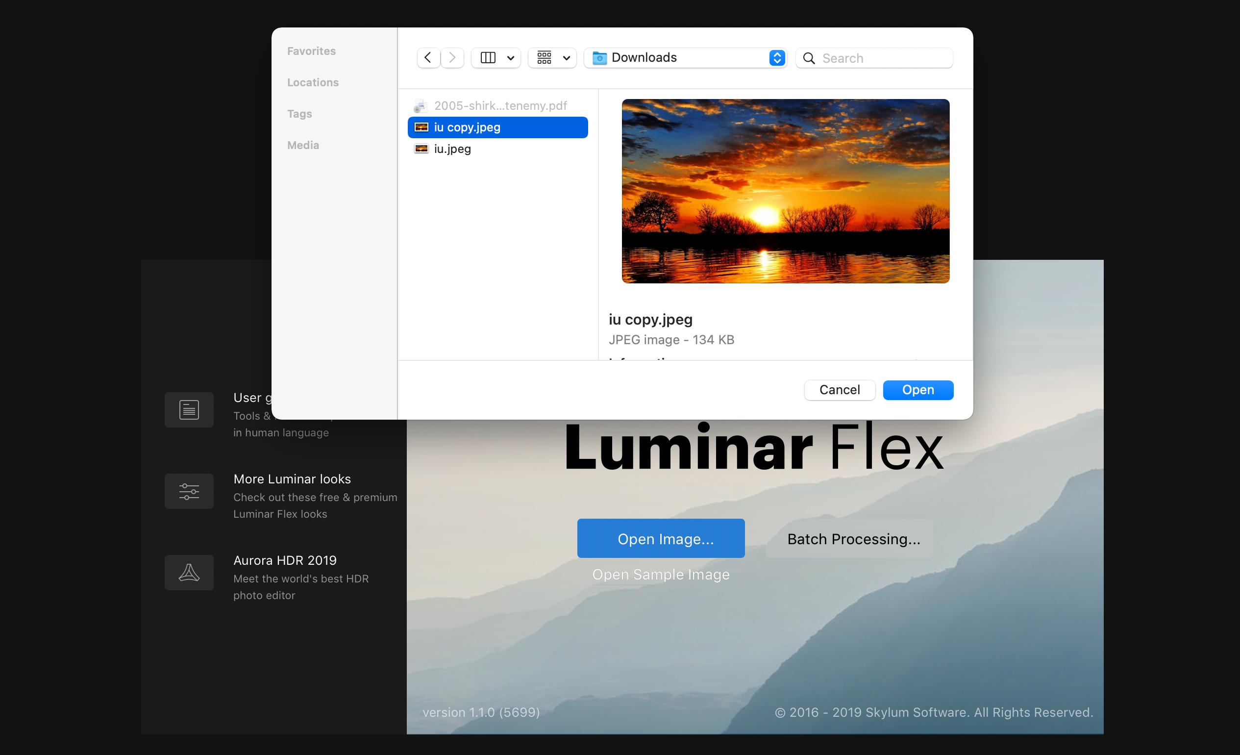 luminar flex mac
