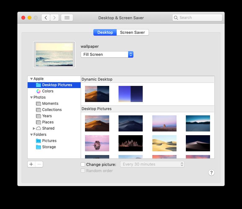 Mac desktop preset