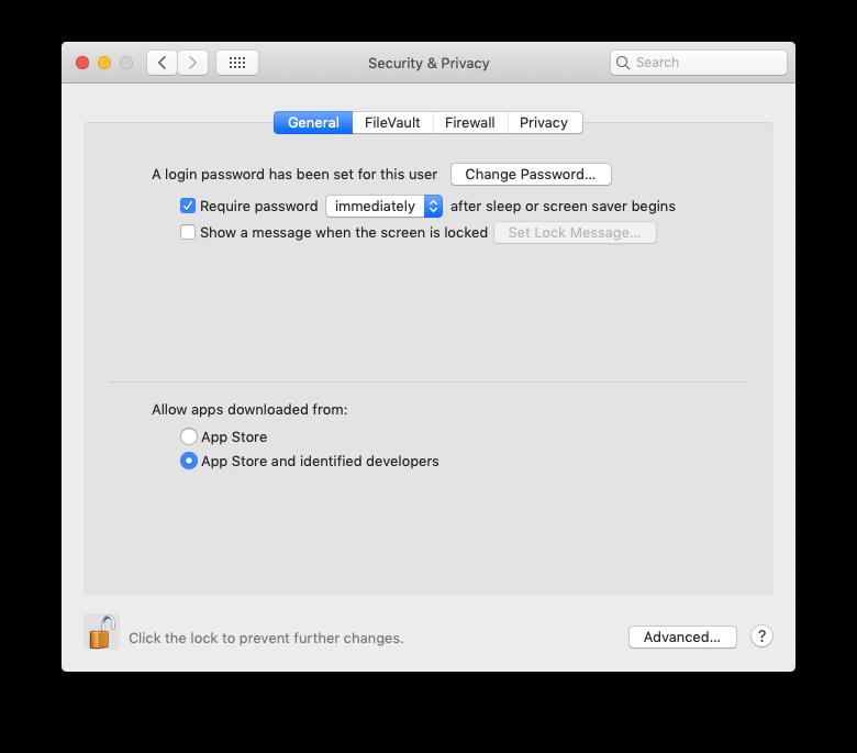 mac identified developers app