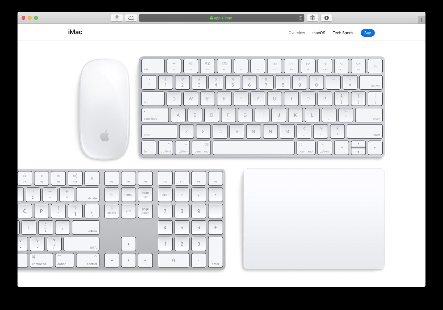 Mac keyboard mouse Apple clean