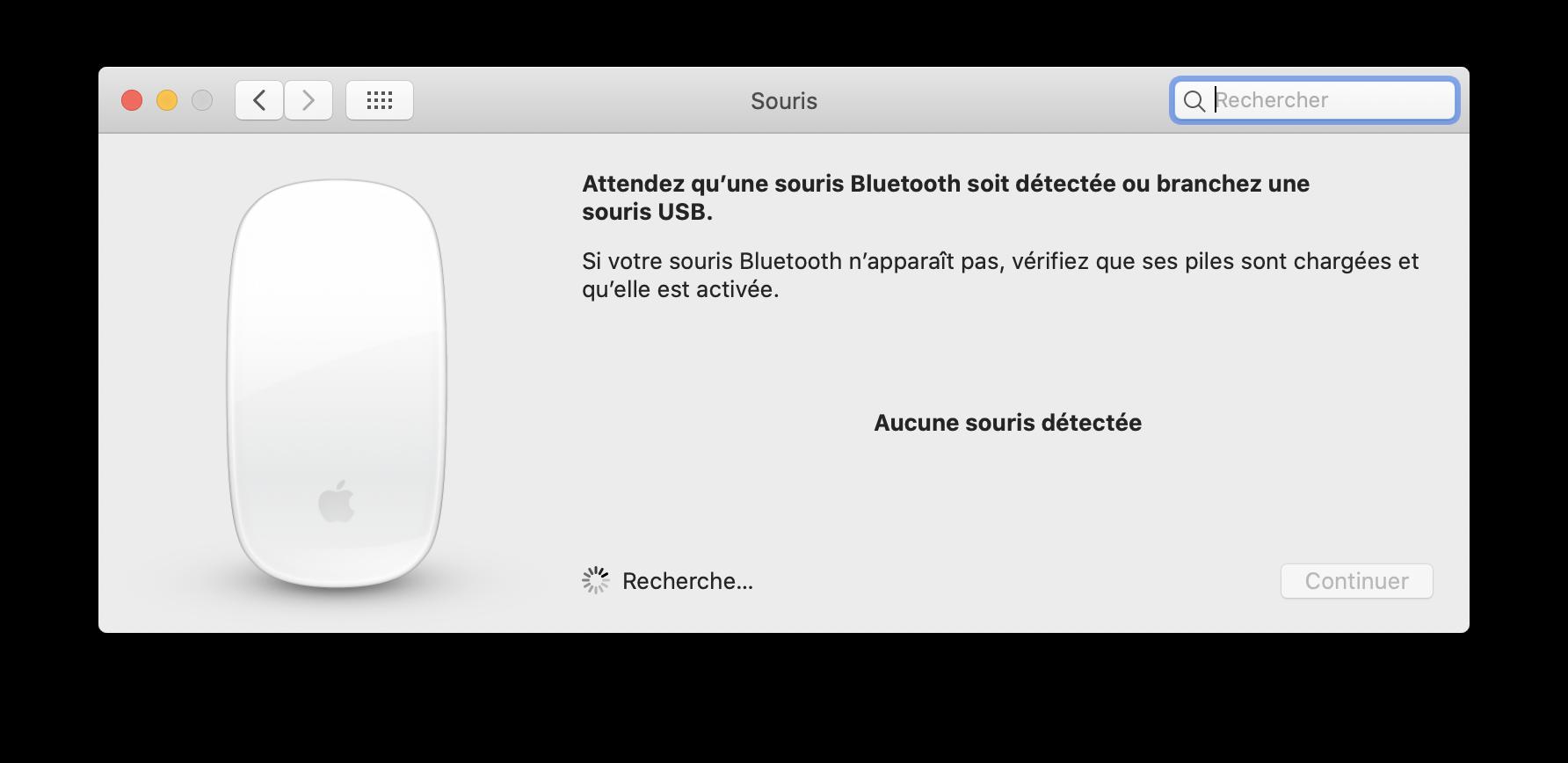 Souris Bluetooth Mac