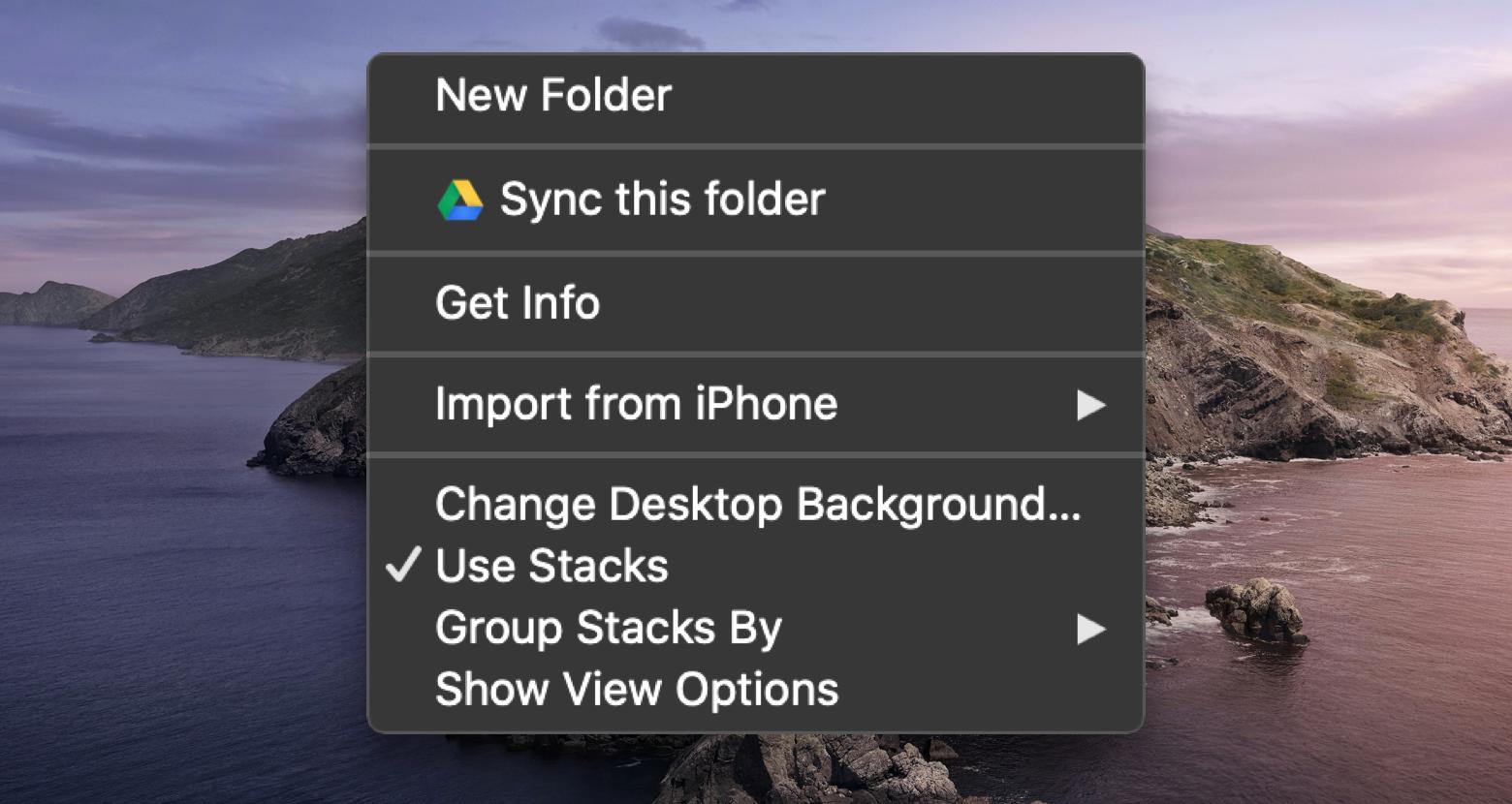 Mac right click menu