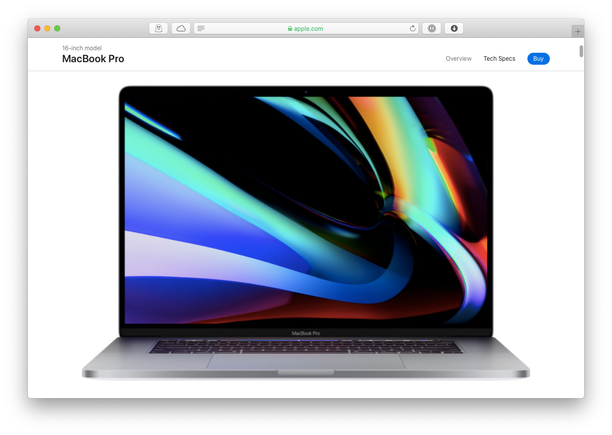 MacBook Pro 16-inch Mac adapter USB-C