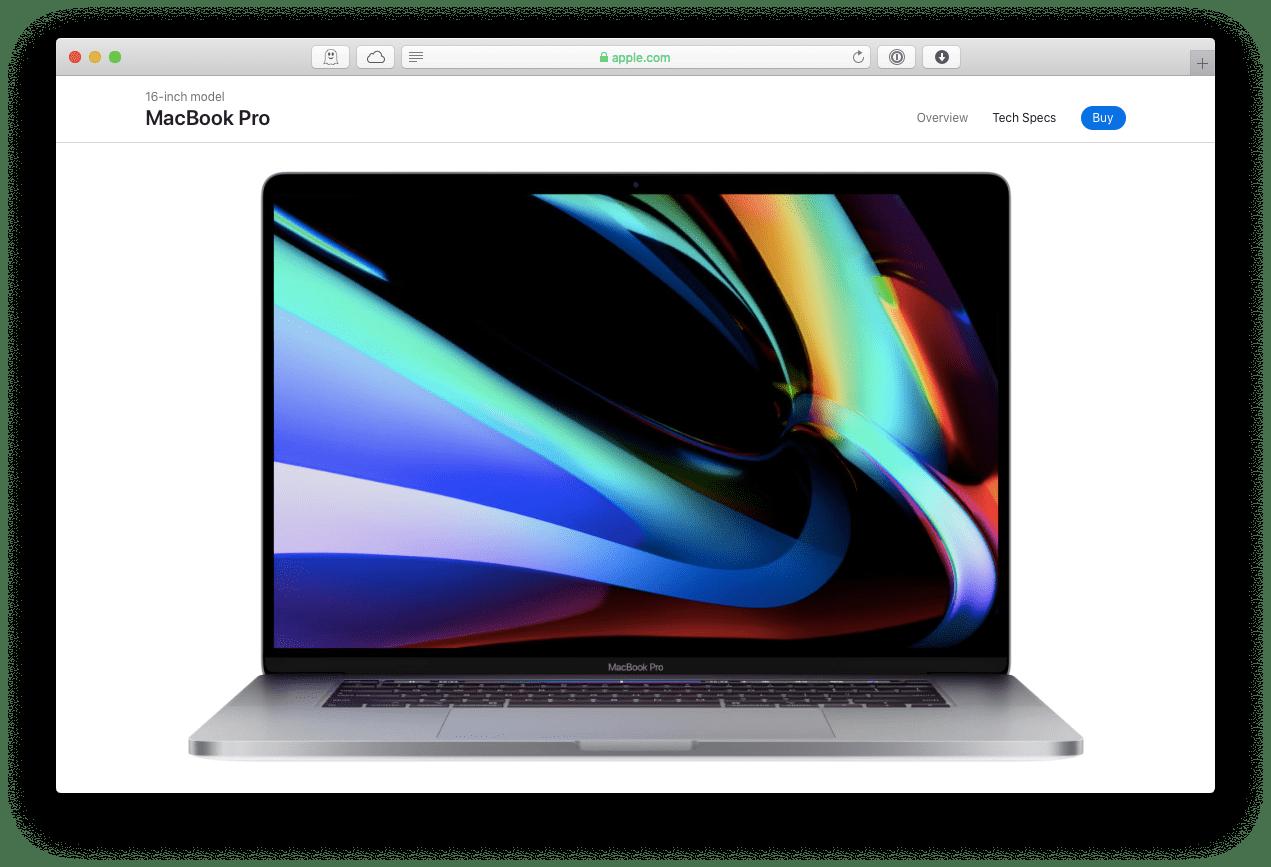 MacBook Pro 16-inch Apple