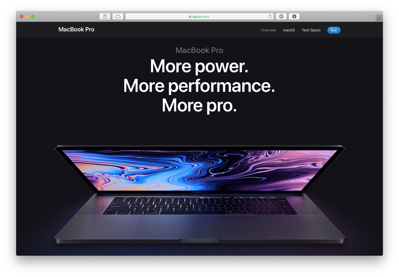 new macbook pro 2019