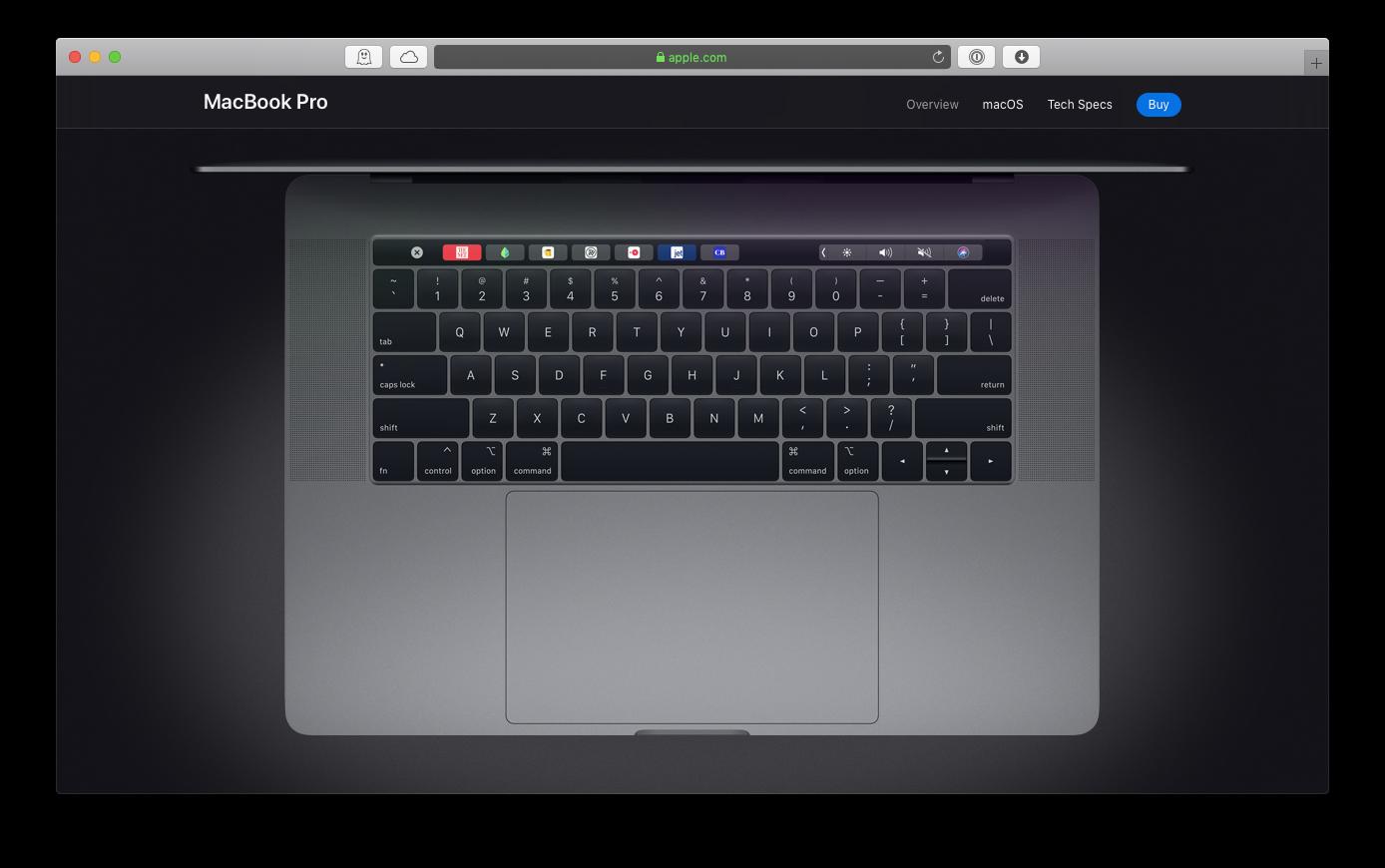 MacBook pro Apple keyboard
