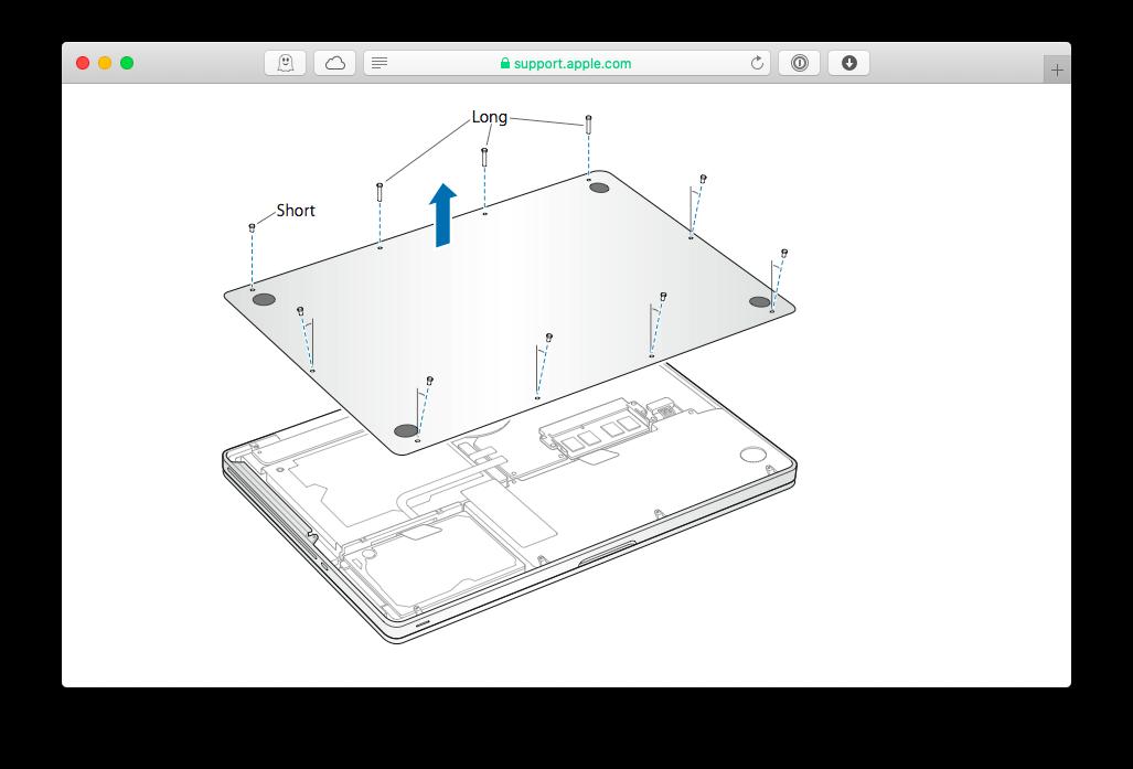 Upgrade RAM on MacBook Pro   via Apple.com