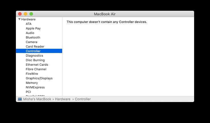 MacBook security chip controller