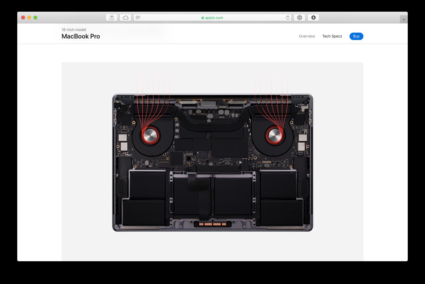 MacBook thermal heat pro 16-inch