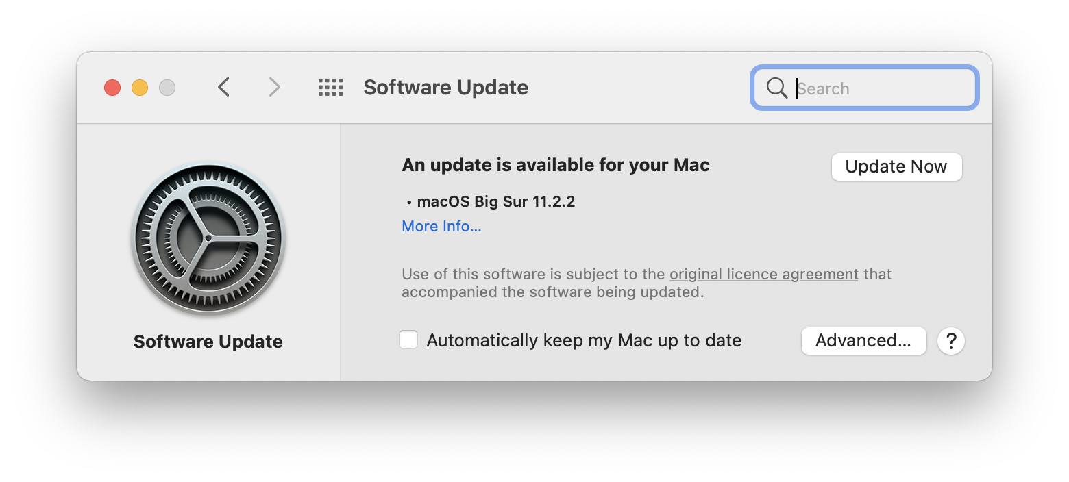 Update to macOS Big Sur
