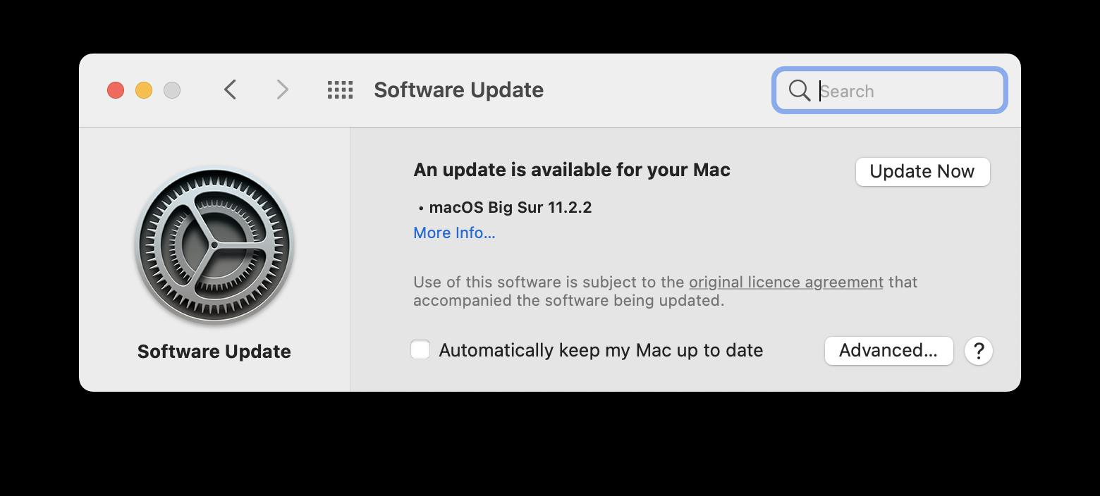 Update your macOS