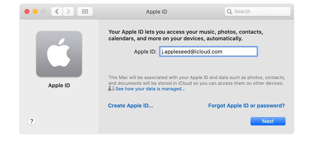 macos apple id