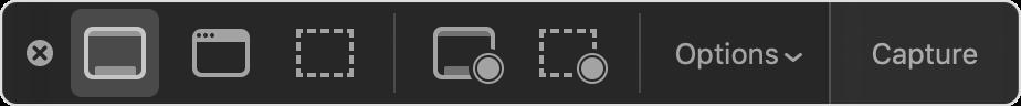 macOS screen capture menu