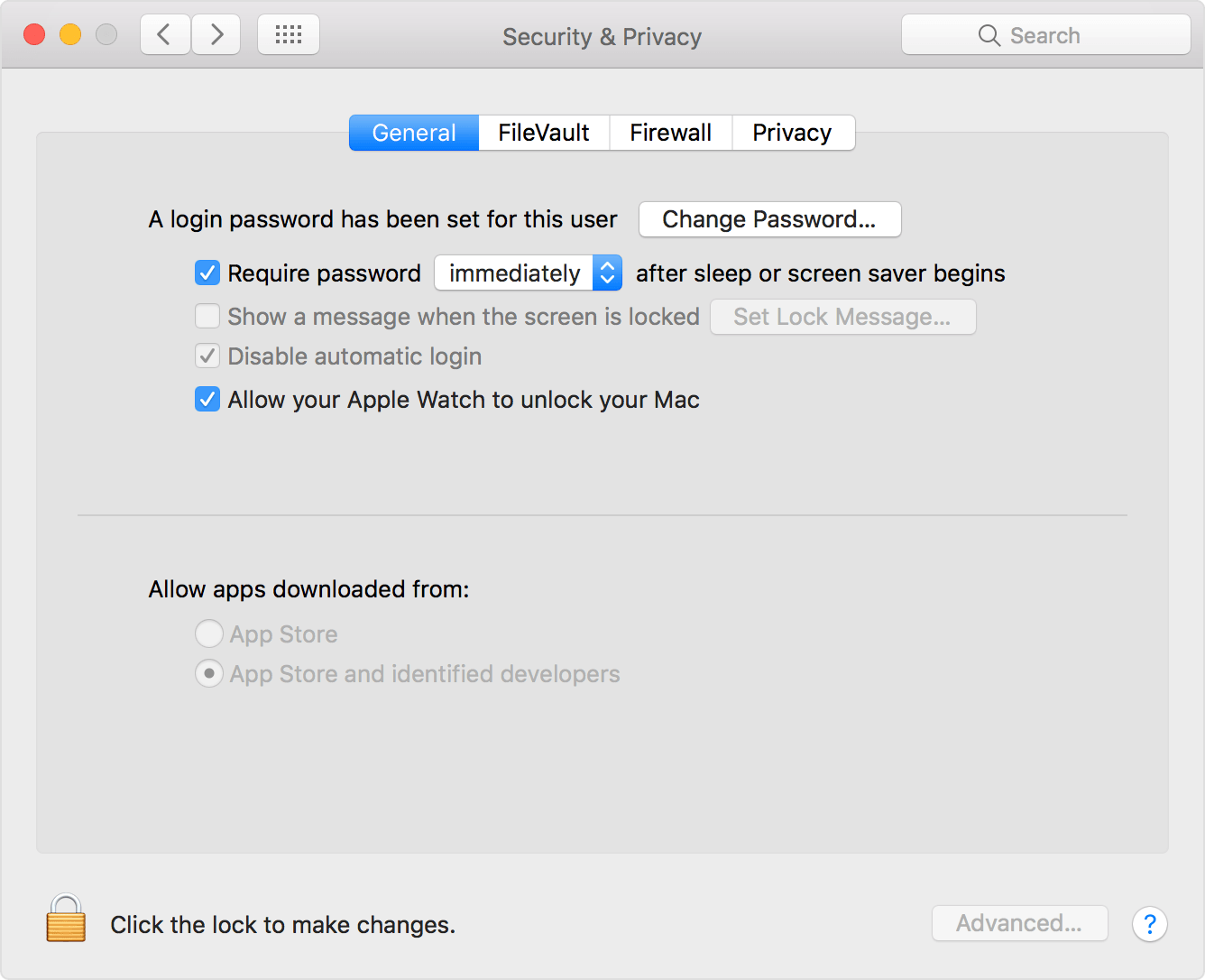 system preferences allow watch to unlock mac