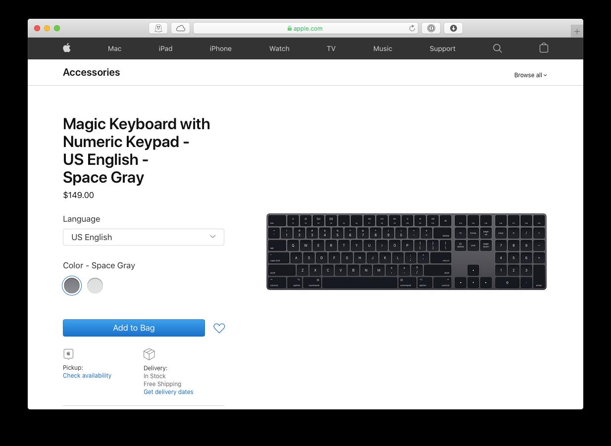 Magic keyboard and mouse Mac Apple