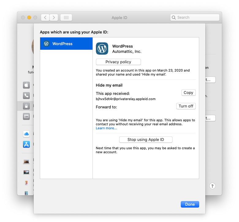 manage Apple ID app Mac