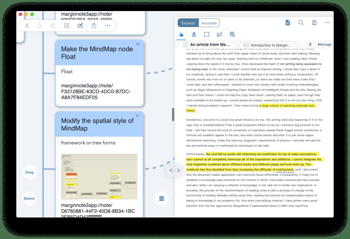 map MarginNote notes study app Mac