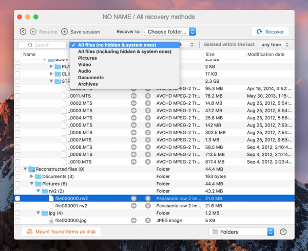 Review files on SD card with Disk Drill utility