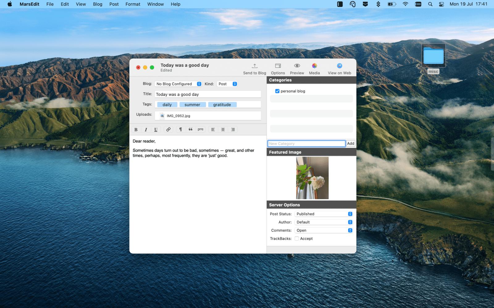 Mars edit mac note-taking app