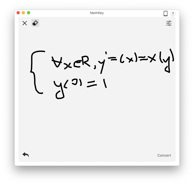 MathKey recognize equation latex mathML