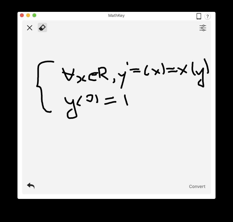 MathKey recognize equation latex mathML