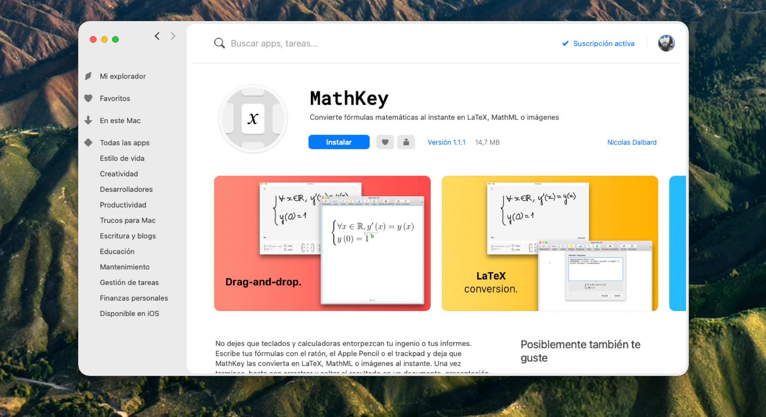 MathKey handwriting recognizer