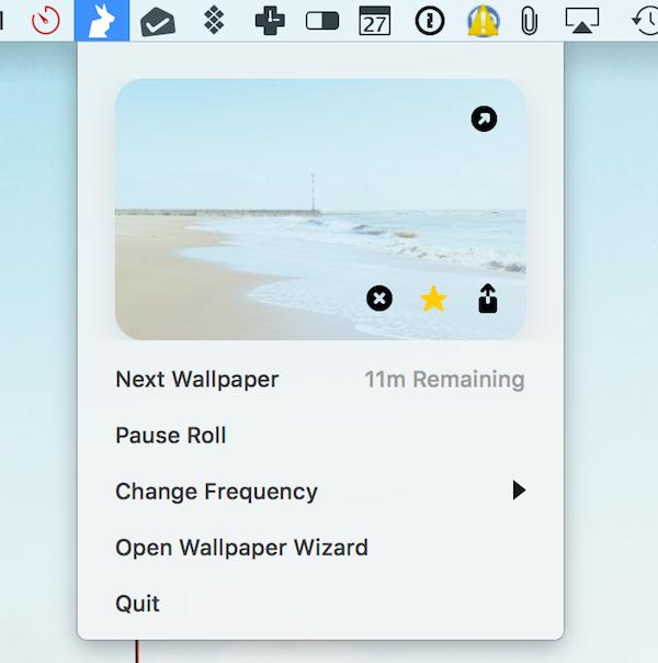 Change wallpapers in menu bar