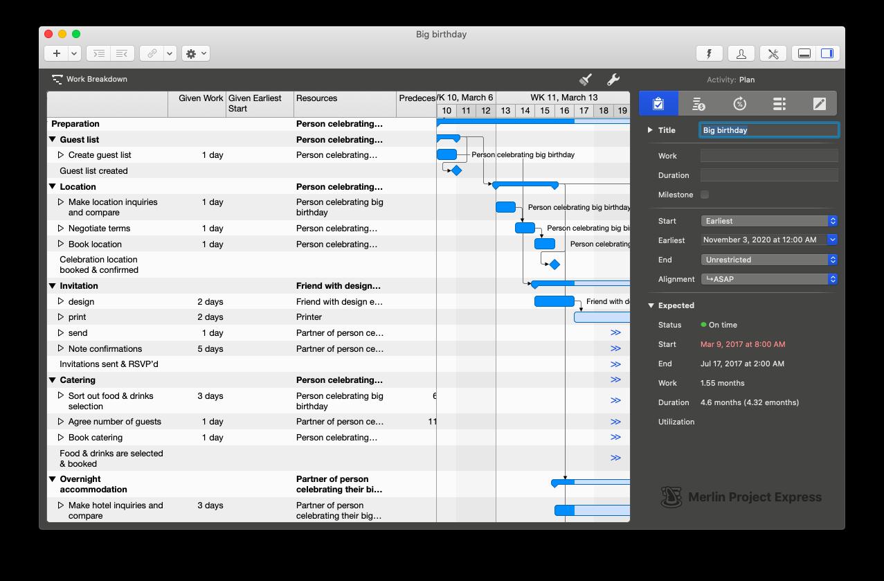 Merlin Project Express - Gantt for macOS
