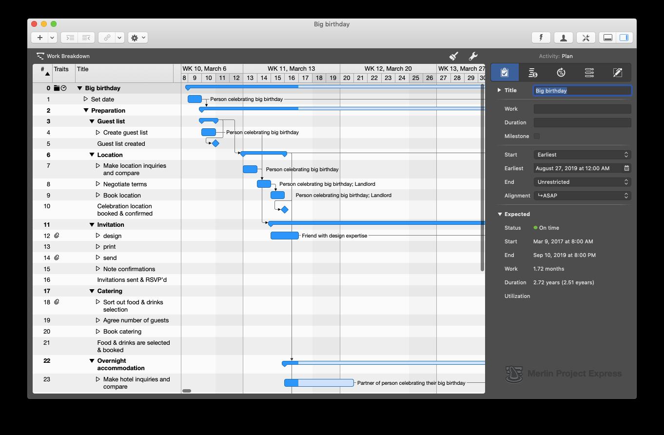 Merlin Project Express management tips Mac