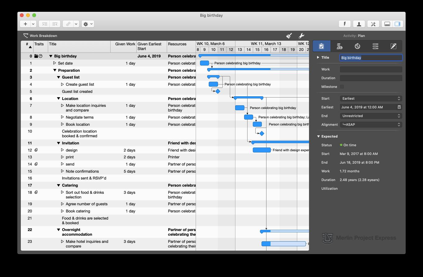 merlin project express task management