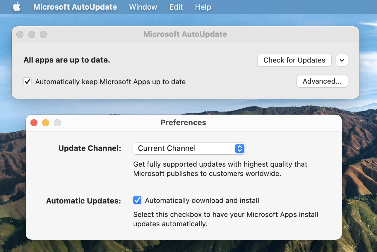 Automatically keep Microsoft Apps up to date