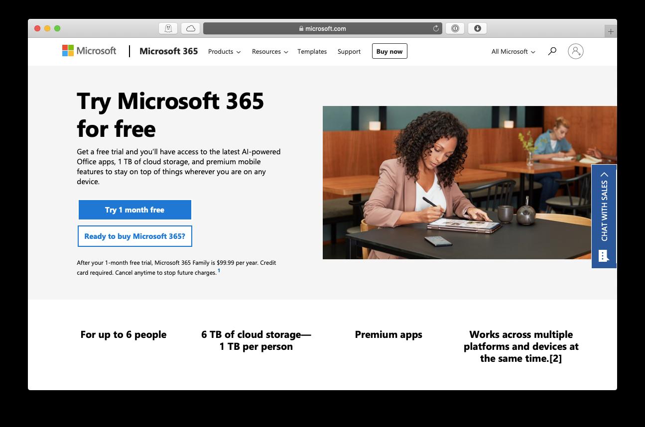 Microsoft Word 365 free trial