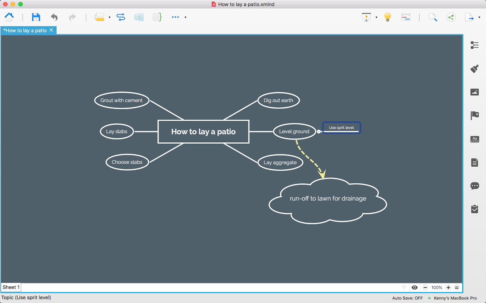 create notes using mind maps