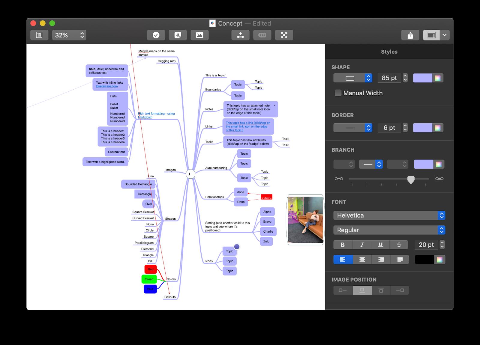Create amaizing mind maps with MindNode