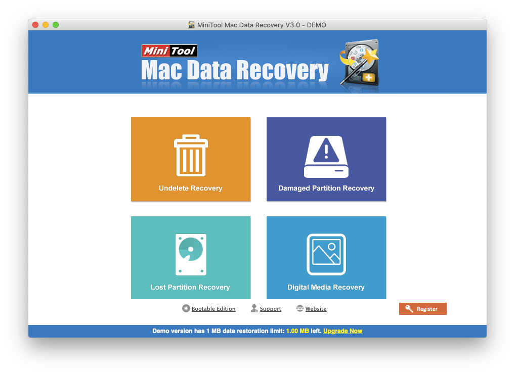 MiniTool Mac data recovery software