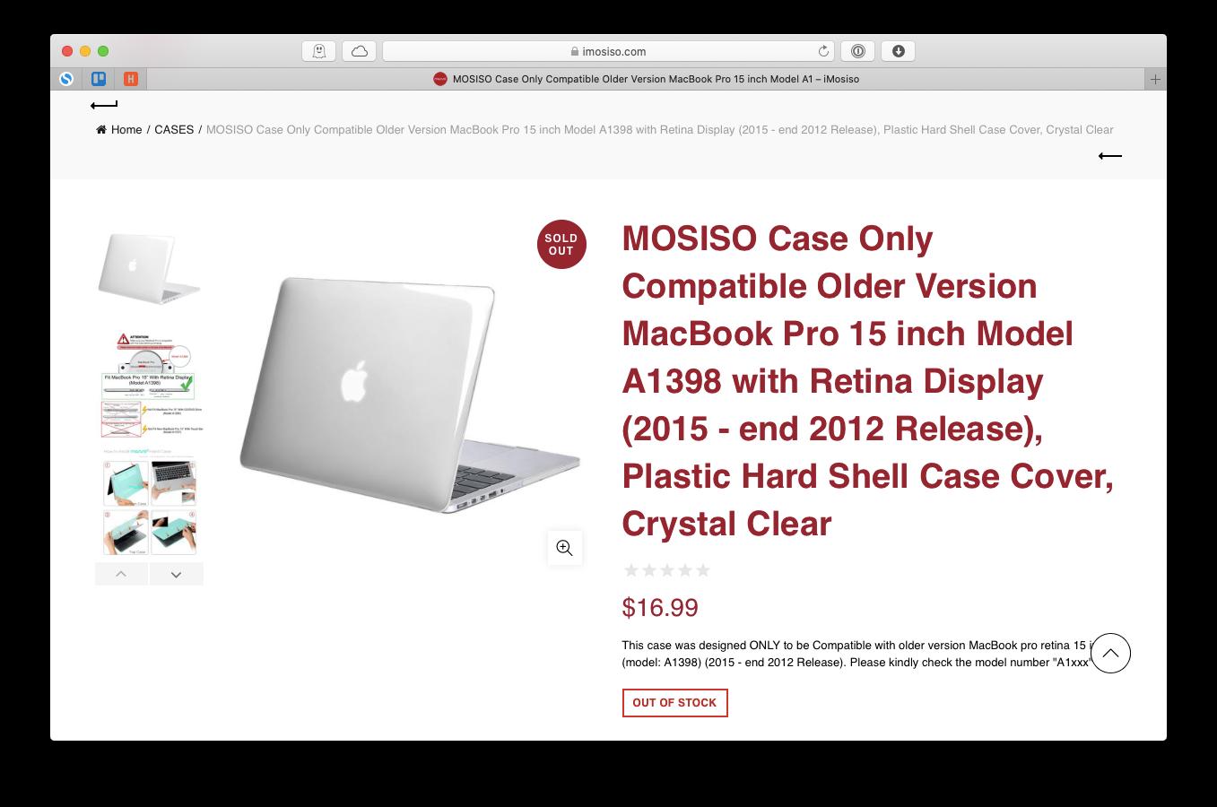 Mosiso MacBook cover cheap plastic