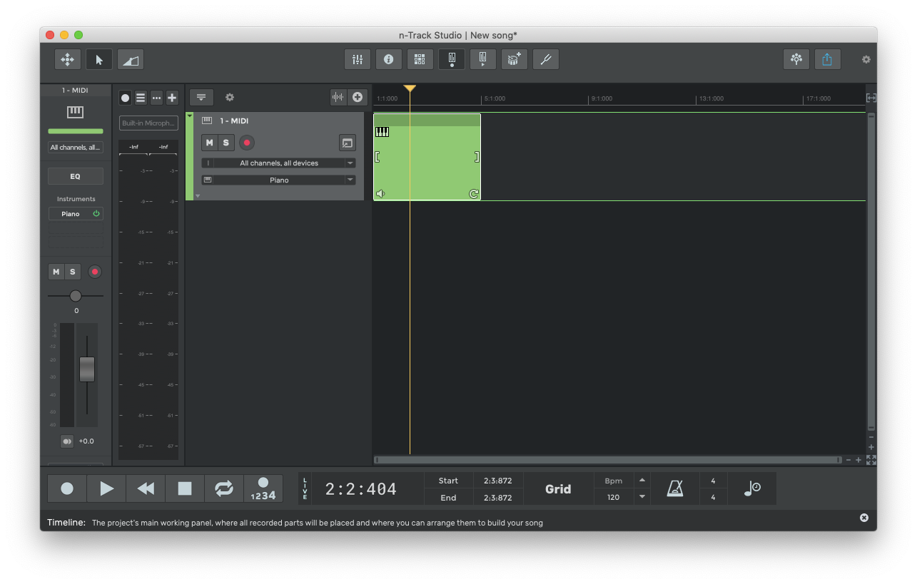 n-Track create music on mac