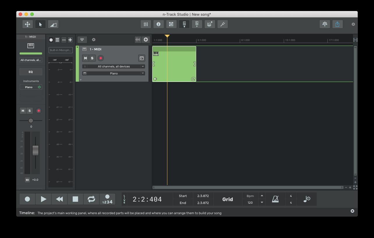 n-Track create music on mac