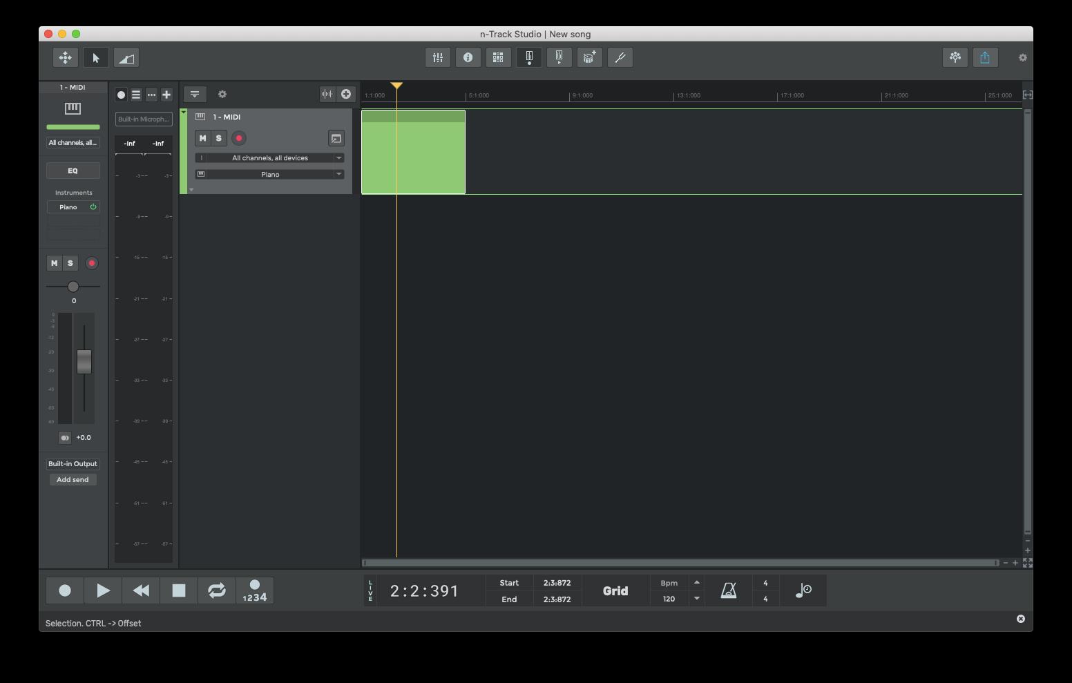 n-Track Studio music software Mac