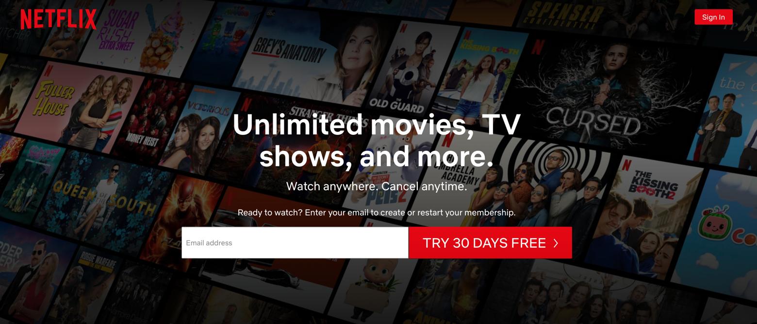 Netflix Mac desktop