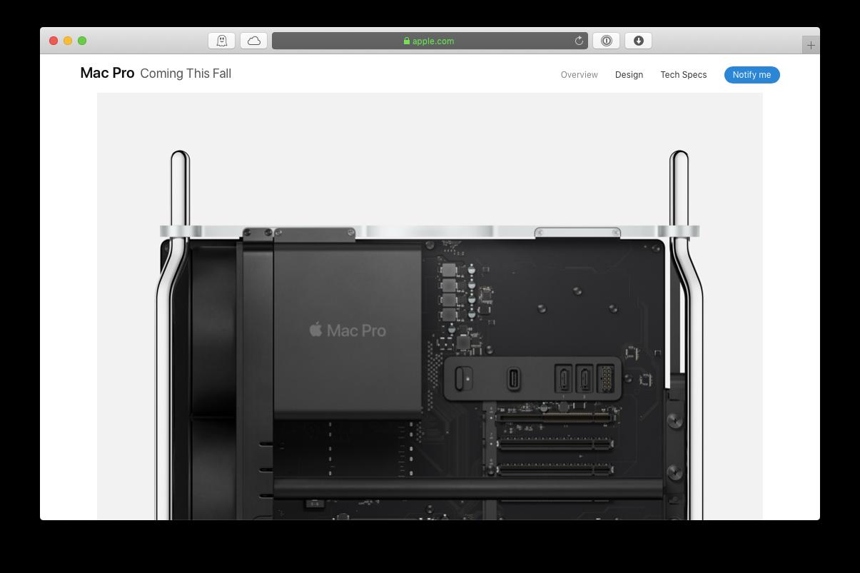 new mac pro 2019 spec tech